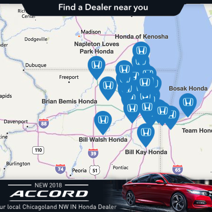 Honda Examples Overlay + Endcard (with store locator)