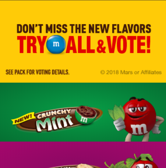 MnM – Flavor Vote – Mobile Interstitial Unit